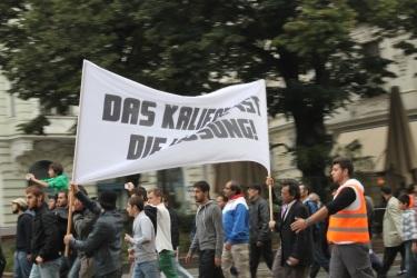 Demonstration gegen die Beleidigung des Propheten Mohammed (Foto: Ruth Eisenreich)