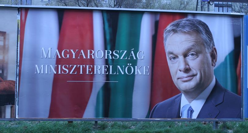 Wahlplakat von Viktor Orbán