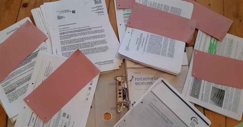 Unterlagen zum Thema Kostenerstattung für Psychotherapie